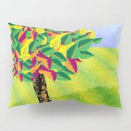 Autumn tree in a field Pillow Sham