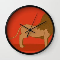lannister Wall Clocks featuring Hear Me Roar by Alexandra Sutherland