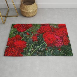 Red Roses by Lika Ramai Rug