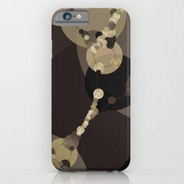 tara - dark abstract of tan chestnut brown taupe yellow beige iPhone Case