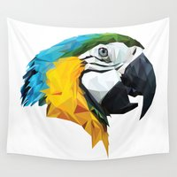 parrot Wall Tapestries featuring PARROT by MGNFQ