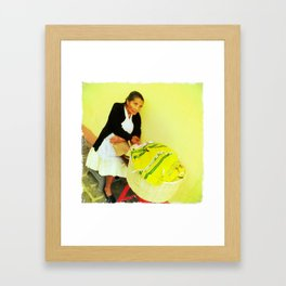 beauty with age Framed Art Print
