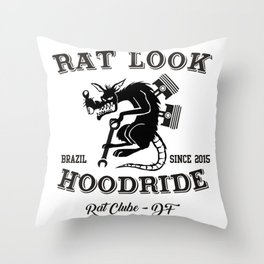 RAT LOOK BRASÍLIA - DF -05 Throw Pillow
