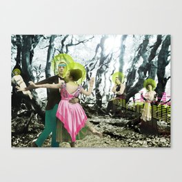 nothing here now but the recordings Canvas Print