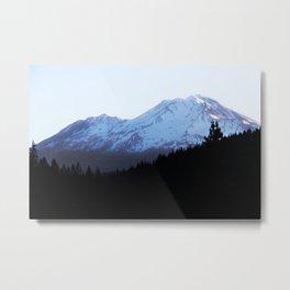 Shadowed Mountains Metal Print