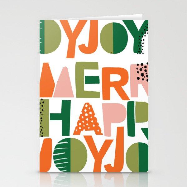 Merry Happy Joy Joy Stationery Cards