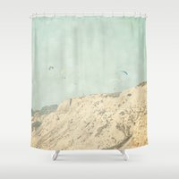 west coast Shower Curtains featuring West Coast 2 by Sylvia C
