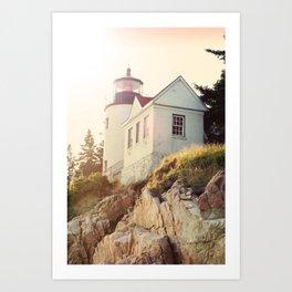 Cliff Lighthouse Art Print