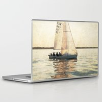 sailing Laptop & iPad Skins featuring Sailing by Mary Kilbreath