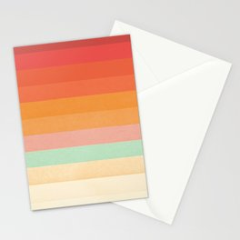 Rainbow Chevrons II Stationery Cards