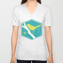 If A Bird Doesn't Sing Series 3 of 3 Unisex V-Neck