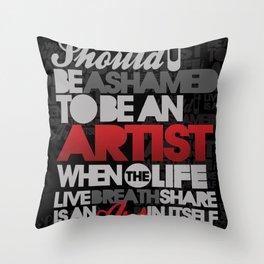 I am Artist (Black) Throw Pillow