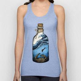 Deep blue bottle Unisex Tank Top