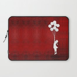 Banksy the balloons Girls silhouette Laptop Sleeve