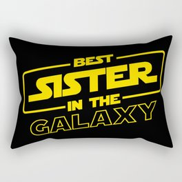 Funny Best Sister Ever In The Galaxy Sci-Fi Space T-Shirt Rectangular Pillow