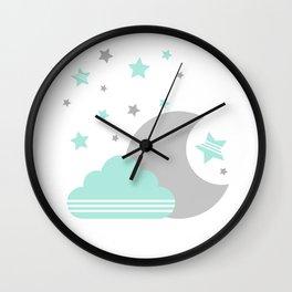 Moon And Cloud Wall Clock