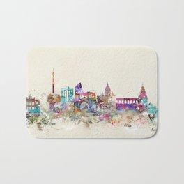 rome skyline vintage Bath Mat