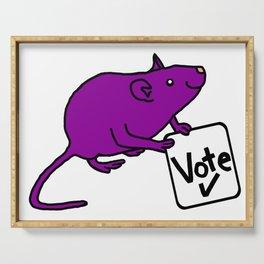 Purple Rat says Vote Serving Tray