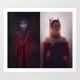 Bluebeard and his Queen Art Print