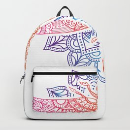 Magical Mandala Dragonfly. Psychedelic Colorful Dragonfly print Backpack