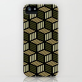 Cubic Olive iPhone Case