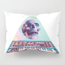 Electro Skull Synthesizer Pillow Sham