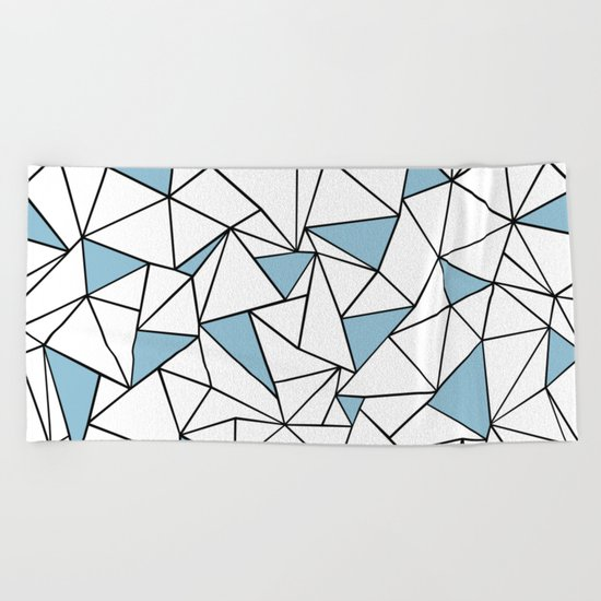 Ab Out Blue Blocks Beach Towel