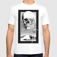 The Spectral Eye White Mens Fitted Tee MEDIUM