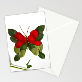 Butterfly-Rose Stationery Cards