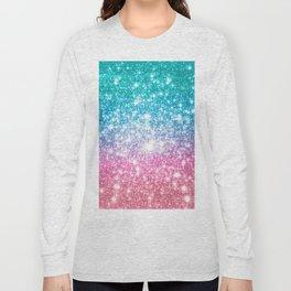 Mermaid Galaxy Sparkle Stars Long Sleeve T-shirt