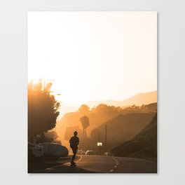 Sunset Skate Canvas Print