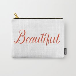 Beautiful Lettering Carry-All Pouch