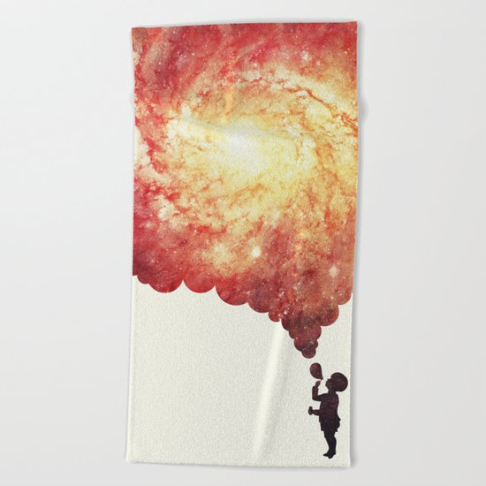 The universe in a soap-bubble! (Awesome Space / Nebula / Galaxy Negative Space Artwork) Beach Towel