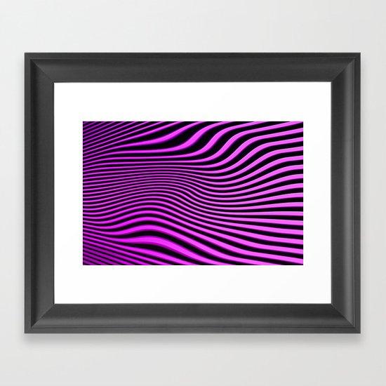 Stripes in Pink Framed Art Print