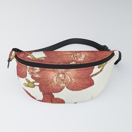 Red Orchids Fanny Pack
