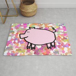 Year of the Pig 2019 - Pink Pig Rug