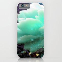 Aqua Rose iPhone Case