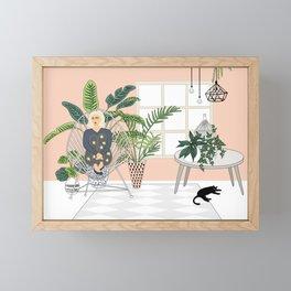 girl in the room Framed Mini Art Print