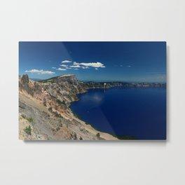 Crater Lake View with Caldera Rim Metal Print