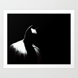 Inside the Batcave in Gotham City Art Print