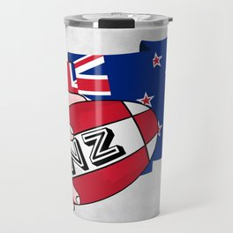 Rugby Ball New Zealand Travel Mug