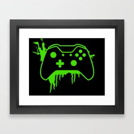 Xbox One Controller Framed Art Print