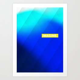 IMAGINE gradient no1 Art Print
