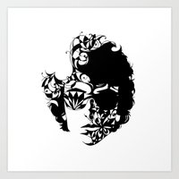 dylan Art Prints featuring Dylan by KATA