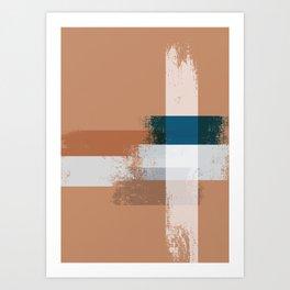 Abstact pattern Art Print
