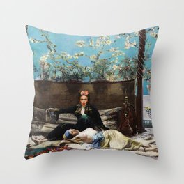 Oriental Lovers Throw Pillow