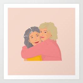 Bitty Besties Forever Art Print