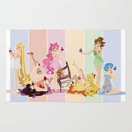 Sailor Moon Pinup - Cupcakes Rug