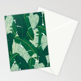 Classic Banana Leaves in Palm Springs Green Stationery Cards