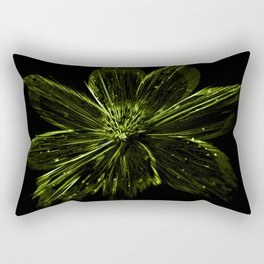Green Aster Rectangular Pillow